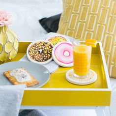Look what I found at UncommonGoods: Donut Coasters for $40.00