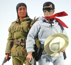 Tonto & The Lone Ranger toy dolls (action figures)