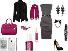 """Executive Pink"" by maggie478 on Polyvore"