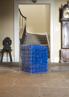 Blue Roses cube from Resin Design, Deco, Blue Roses, House, Home, Blue, Home And Garden, Design Inspiration