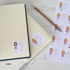 Pegatinas para marcar los libros, Deja a tus niños que las configuren porque lo pasan pipa!