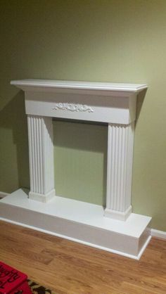My finished faux fireplace