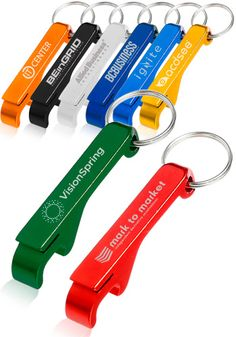 Personalized Bottle Opener Keychains in Bulk Custom Engraved With Logos