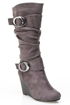 Heel Boots In Gray.