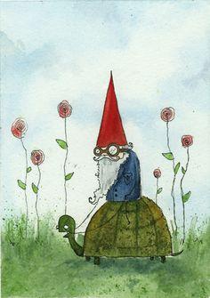 Drew Falchetta #illustration #kabouter #turtle