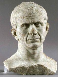 Buste de Jules César (46 av. J.-C.) [découvert dans le Rhône, à Arles]