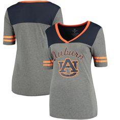 Auburn Tigers Colosseum Women's Twist V-Neck T-Shirt - Heathered Gray