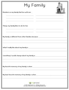 Family Relationships Worksheets for Kids and Teens – Mylemarks – art therapy activities Family Therapy Activities, Counseling Activities, Work Activities, Therapy Worksheets, Teacher Worksheets, Worksheets For Kids, Therapy Tools, Play Therapy, Therapy Ideas