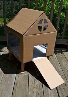Cute cardboard bunny house