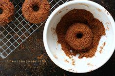 Gluten-Free Sugared Gingerbread Cake Donuts
