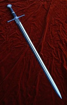 Sword by Castle Keep Fantasy Sword, Fantasy Weapons, Swords And Daggers, Knives And Swords, Types Of Swords, Sword Design, Armadura Medieval, Guns, Medieval Weapons