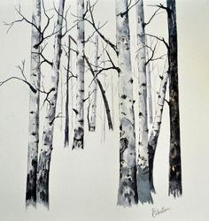 #art #fineart #artcollector #artist #iloveart  #artcollector #originalart #womeninart #artforsale #artwork #color #landscape #watercolor #Contemporary #aspen #winterscene
