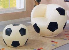 For the little Soccerball fan in your life! Made of a faux leather. Includes the matching ottoman. Great for their bedroom or play area. Chair: 34 #Kids #Kids #Children #Child #Furniture #Set #Christmas #Holiday #Holidays #Wish #Wishlist #Gift #Gifts #Present #Presents #Ideas #Idea #Sets #Sofas #Couches