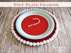Felt Pom Pom Plate Charger for Christmas Decorations