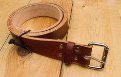 Neat full grain leather belt. Mens Leather Belt  Brown Leather Belt  Handmade by 200MainLeather