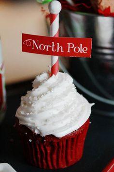 North Pole cupcake