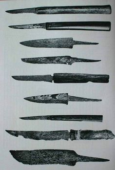 Knives from Novgorod, Viking age. . . . . inspiration for future knives maybe?