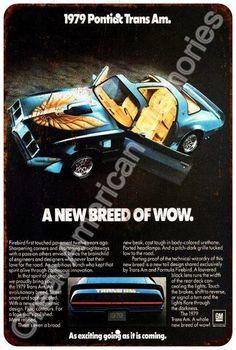 1979 Pontiac Trans Am Vintage Look Reproduction 8x12 Metal Sign 8124529