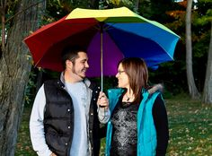 Love the colors in this engagment photo for Bryan & Rachel