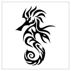 tribal seahorse tattoo - Google Search