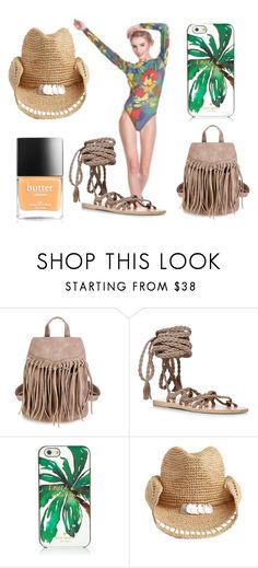 A fashion look from June 2016 featuring black flats, brown bag and beach hat. Browse and shop related looks. Ancient Greek Sandals, Butter London, Flora, Kate Spade, Shoe Bag, Polyvore, Summer, Shopping, Shoes