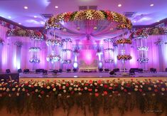 Shopzters is a South Indian wedding site Indian Wedding Stage, Wedding Backdrop Design, Wedding Reception Backdrop, Indian Wedding Planning, Wedding Mandap, Marriage Hall Decoration, Wedding Hall Decorations, Engagement Decorations, Backdrop Decorations
