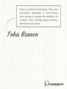 MDF Teka Bianco | Linha Naturale | MDF Guararapes #MDF #decoraçãoMDF #decoração #DesignInteriores #padrõesMDF #homedecor #decoração #quarto #peçasMDF #guardaroupamdf