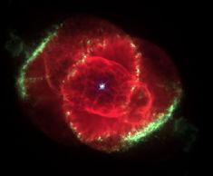"The Cat's Eye Nebula - Picture Credit: NASA, Hubble Space Telescope - Three thousand light years away, a dying star throws off shells of glowing gas. This Hubble Space Telescope image reveals ""The Cat's Eye Nebula"" to be one of the most complex ""planetary nebulae"" known. In fact, the features seen in this image are so complex that astronomers suspect the visible central star may actually be a double star system."