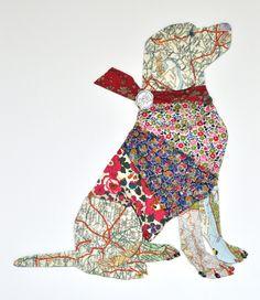 labrador, Collage / mixed media by Sarah Blomfield | Artfinder