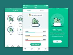 Web Design Club — Plant Watering App - This app concept uses playful. Mobile App Design, Web Mobile, Interaktives Design, App Ui Design, Desing App, Design Blogs, Gui Interface, Interface Design, Don Chuy