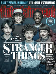 STRANGER THINGS protagoniza la última portada de Entertainment Weekly