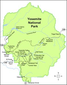 Yosemite National Park map - Bing Images | Yosemite National Park ...