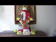 SANTA ESQUIADOR | ARTE JESICA | MUÑECOS EN TELA| DECORACION NAVIDEÑA - YouTube
