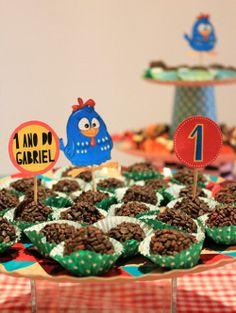 fiesta cumpleaños Galinha Pintadinha
