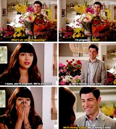 """We're pregnant"" - Schmidt and Cece #NewGirl ((Yayyyyy!))"