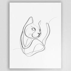 Cat Lover Gifts, Cat Gifts, Cat Lovers, Animal Sketches, Animal Drawings, Black Cat Tattoos, Black Cat Art, Cat Art Print, Cat Drawing