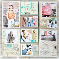 jmpgirl ~ project life, arrow stamps throughout layout