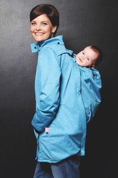 ***hordozókabát #4 #70CM*** Babywearing, Rain Jacket, Windbreaker, Light Blue, Pregnancy, Coat, Jackets, How To Wear, Clothes