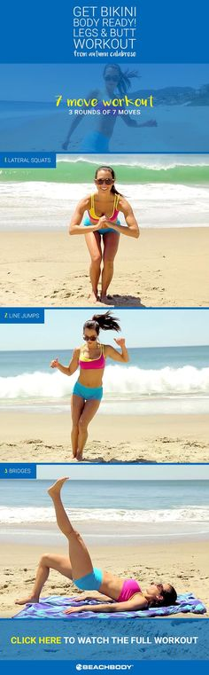 Click to watch Autumn show off her favorite legs & butt workout moves to get you Bikini Ready! Beachbody // BeachbodyBlog.com // 21 Day Fix // 21 Day Fix Extreme // fitness // fitspo // workout // motivation // exercise // Inspiration // fitfam // fixfam // fit // bikini body // leg workout