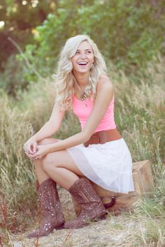 Senior picture #boots #country