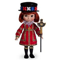 A smile means friendship for everyone when sharing the Disney Animators' Collection ''It's a Small World'' Dolls. This lively English lad in finely detailed traditional folk costume also sings in his native language!