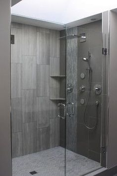 Space - Devices to Show Depth. The foreshortened lines show this shower cubicle has depth. Natural light a neutral color scheme and the vertical lines help give this a more spacious feel.