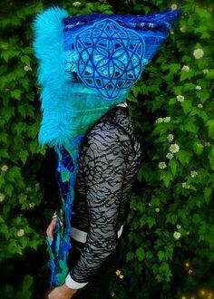 Sacred Geometry Scoodie, Full IntersteLLar Weave ScoodiE, FestiVaL Hood, Pixie Hoodie, Hippie Hood, Gypsy clothes on Etsy, $198.00