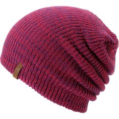 Empyre Girl Piper Pink Purple Speckle Beanie ( 17) ❤ liked on Polyvore 841e82d12f7d