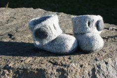 Knit Wool Felt Slipper Pattern $6 Available on Etsy at ErinBlacksDesigns