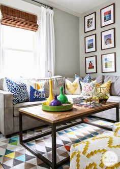 (Source) Inspired By Charm painted gourds and placed them around his home. I love this idea!...