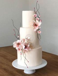 47 unique takes on the traditional white wedding cake 39 - #takes #traditional #unique #wedding #white - #new Wedding Cake Fresh Flowers, Floral Wedding Cakes, Fall Wedding Cakes, White Wedding Cakes, Elegant Wedding Cakes, Beautiful Wedding Cakes, Wedding Cake Designs, Beautiful Cakes, Wedding White