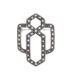 Silver Marcasite Brooch Marcasite Jewelry, Fool Gold, Art Nouveau Jewelry, Victorian Era, Brooches, Jewelry Design, Jewelry Making, Sterling Silver, Brooch