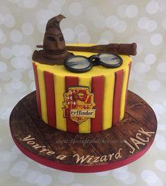 Harry Potter themed birthday cake. #harrypotterbirthdaycake
