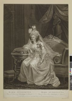 Portrait of Marie Antoinette, 1 March 1794, Mezzotint (British Museum)